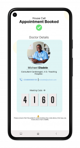 Doctor House Call Booking.